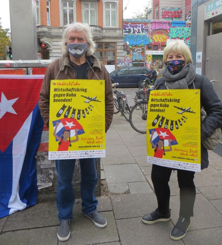 »Unblock Cuba« im Hamburger Schanzenviertel