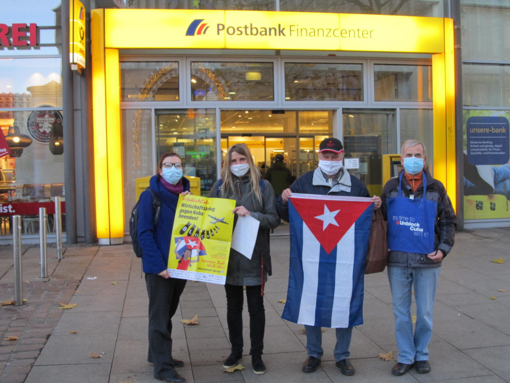 "Aktion ""Unblock Cuba"" in CHEmnitz"