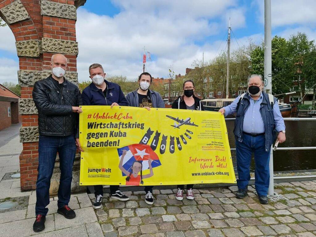 UnblockCuba-Aktion in Emden